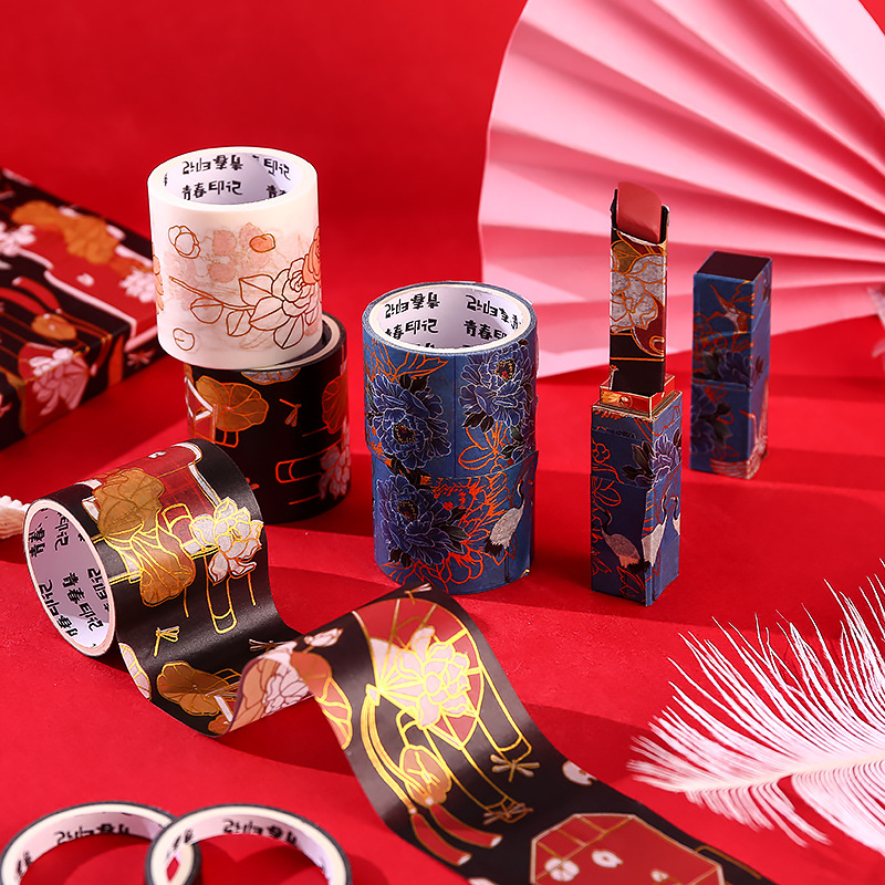 10pcs/lot Kawaii Decorative Retro Gold Washi Tape Set Japanese Paper Stickers Scrapbooking Adhesive Washitape Stationary