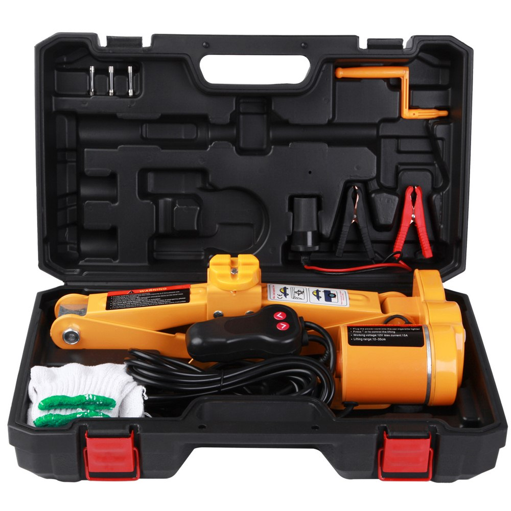 2 Ton Portable Car Electric Jack 12V 120W Hydraulic Auto Jack Lifting Repair Change Repair Tools Car Disassembly Tool
