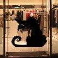 5 шт./лот Горячий Стиль Черный Страшно Кошка Рисунок Хэллоуин Водонепроницаемый Наклейки Наклейки детские Смешные Tricky Классические Игрушки