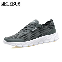 Men Black Shoes 2017 New Summer Air Mesh Breathable Casual Lace Up Shoes Large Size 48