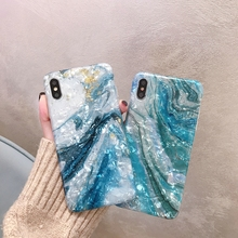 Glitter Marble Case For iphone 7 XR XS MAX Case Soft TPU Back Cover For iphone 6 6S 7 8 Plus iphone X XR phone  Case coque funda цена и фото