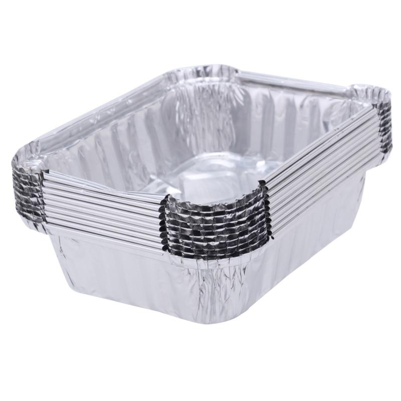 10pcs Disposable Aluminum Foil Pans Aluminum Foil Food