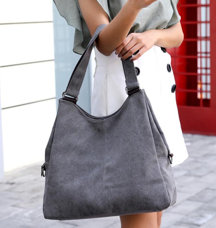 Canvas Handbags Shoulder Bags Totes Bolsa Feminina Woman Crossbody Bag Woman Mochilas Mujer Hobos Travel B180224