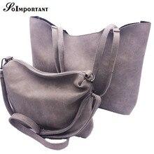 Nuevo 2017 Mujeres Calientes Bolsas Para 2 Sets Diseño de Marca Famosa Cuero de LA PU de Las Mujeres Bolsas Compuestas Con Hombro + Messenger Bags