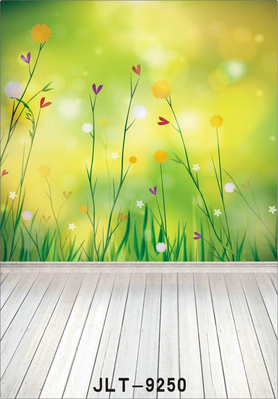 Us 98 26 Offhình Nền Cho Studio ảnh Màu Xanh Lá Cây Màn Hình Mùa Xuân Hoa Bằng Gỗ Máy Tính In Phông Nền Chụp ảnh Cho đám Cưới Con Bé Sơ