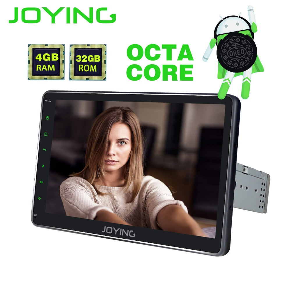 JOYING 10.1 ''4 gb RAM Android 8.0 simple din autoradio stéréo bluetooth audio tête unité GPS HD bande enregistreur soutien carplay