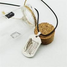 Attack on Titan Survey Corps Wings Logo Rope Chain Necklace