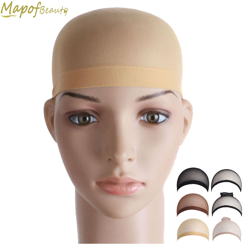 10pcs/set Mesh Weaving Black Flesh Color Stretchable Wig Cap Hair Net Making Caps Hairnets Hair Mesh Synthetic Hair Mapofbeauty With The Best Service