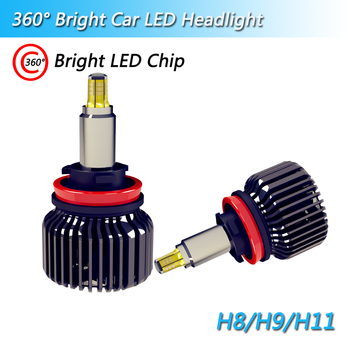 Factory supply Super bright 90W 9000LM 12V H1 H3 H7 9005 9006 9012 3D car conversation kits Auto Headlight led lamp H11 H8 H9