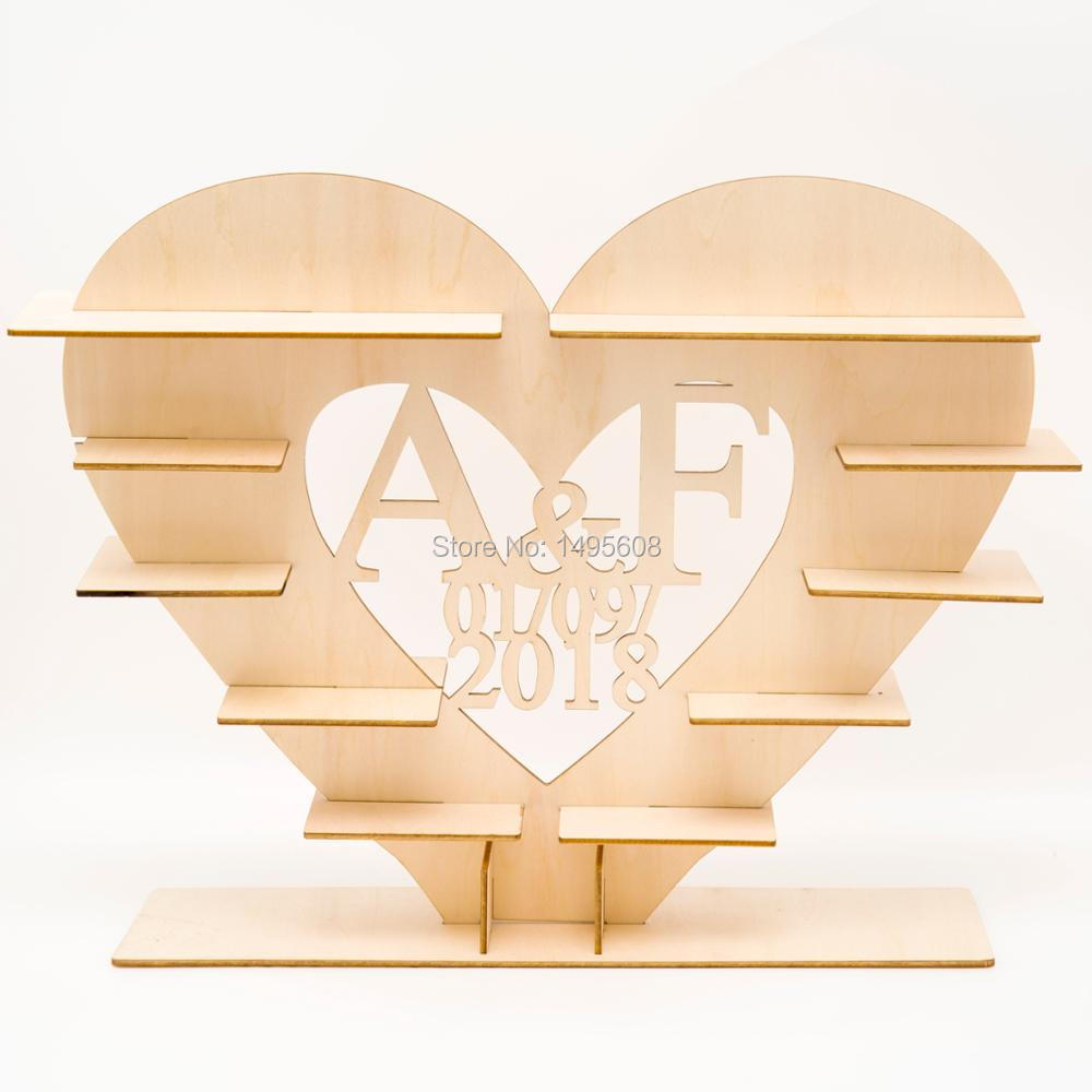 Personalized Ferrero Heart Tree Wedding Display Stand