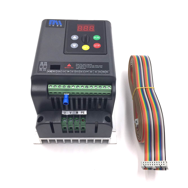 High Performance VFD 0.75KW 1HP Output 3Ph 380V 2.5A Lathe Variable Frequency Drive Inverter for 3 Phase Asynchronous Motor universal lathe motor drive vfd 1 5kw inverter 2hp 3ph output 380v variable frequency drive for 3 phase asynchronous motor