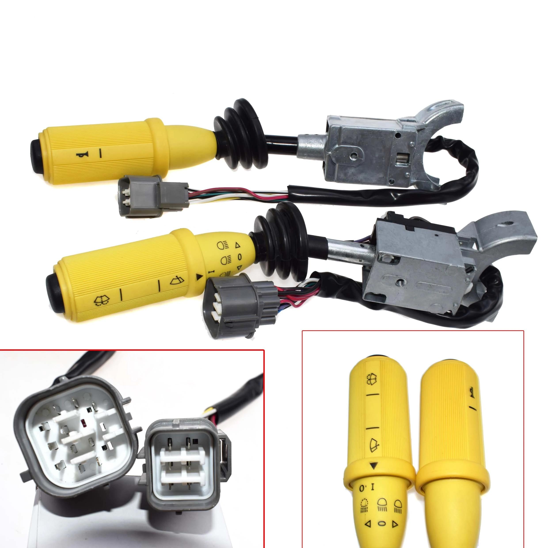 Ileri ve geri ve sağ el sileceği işık lambası anahtarı kolonu sap anahtarı  JCB 3CX 4CX kazıcı yükleyici 701/37702 701/37702|Araba Anahtarları ve  Röleleri