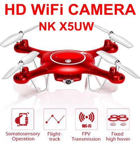 New SNRC X5UW 2.4G 4ch 6Axis RC Quadcopter Wifi FPV HD Camera Mobile Control High Hold Mode One Key Return VS syma x5uw x5sw x5c