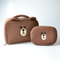 2017 New Japan And Korean Style Ms Cute Fashion Bear Wash Bag Cosmetic Bag Storage Package