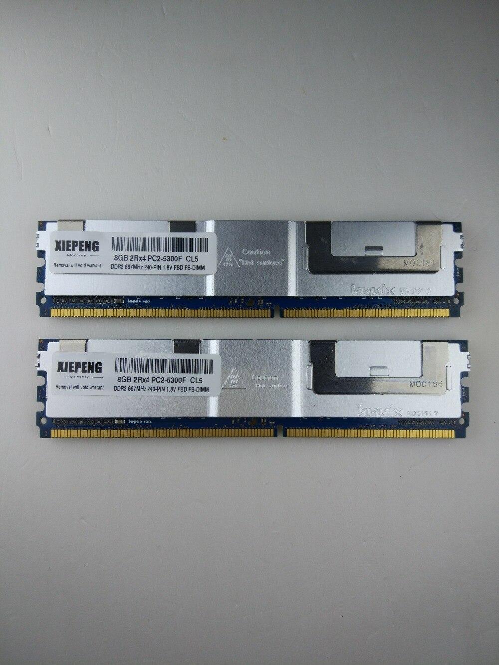 New Hynix 8GB 2x 4GB PC2-5300F 240pin 2RX4 DDR2 ECC Fully Buffered Server Ram