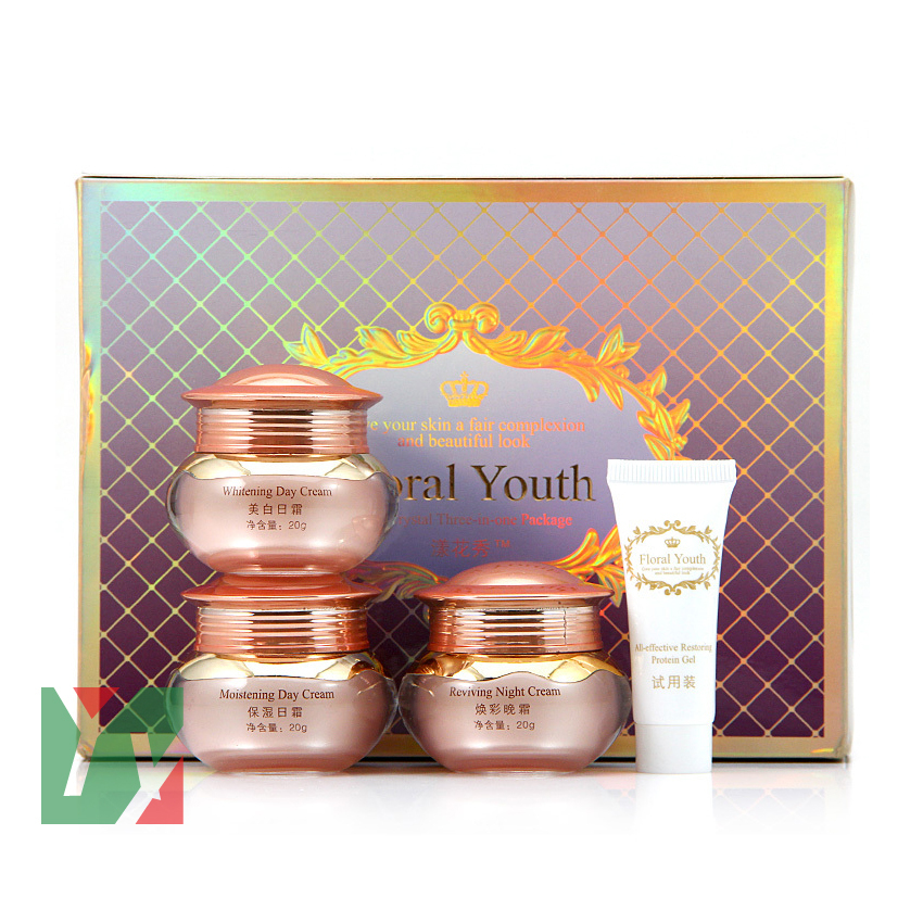 цена на Floral Youth Skin Care Cream Set whitening day and night cream 3 in 1