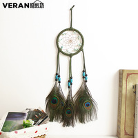 Fashion gift Hot Indian peacock Dreamcatcher Wind Chimes Indian Style Peacock Pendant Dream Catcher Gift