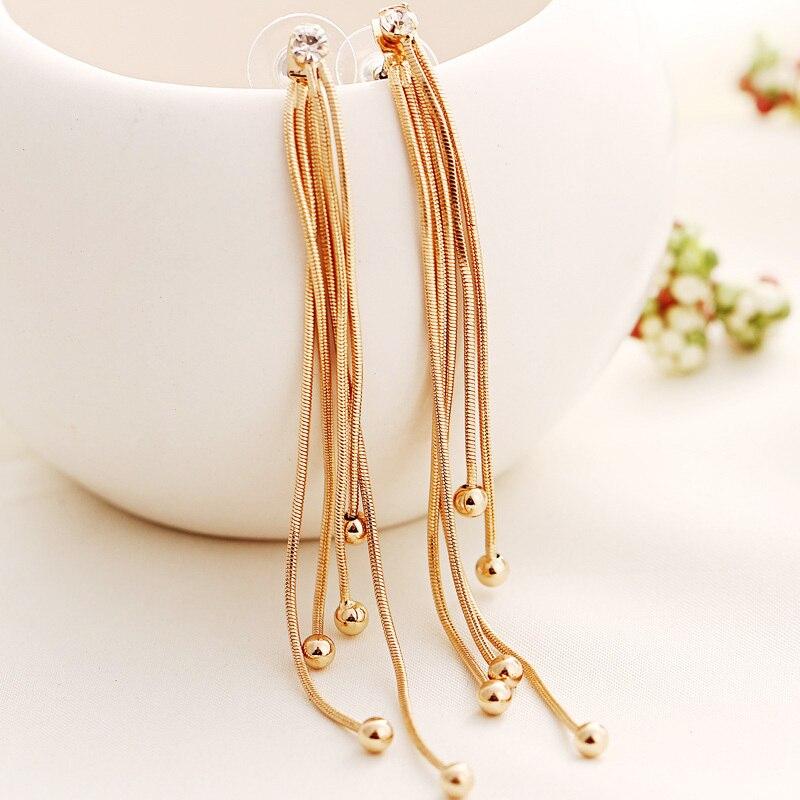 2015 Fashion Long Tassel Drop Earrings New Charm european Design ...