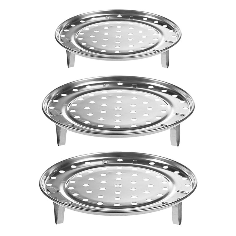 1PC Stainless Steel Steamer Tray Rack Multifunctional Durable Pot Steaming Stand Cookware Kitchen Accessories