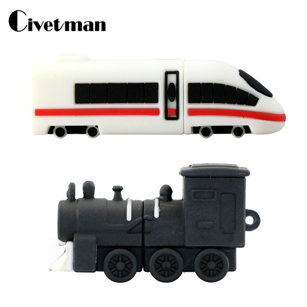 JASTER® High-speed Rail Train USB Flash Drive Motor Car Locomotive Pendrive Real