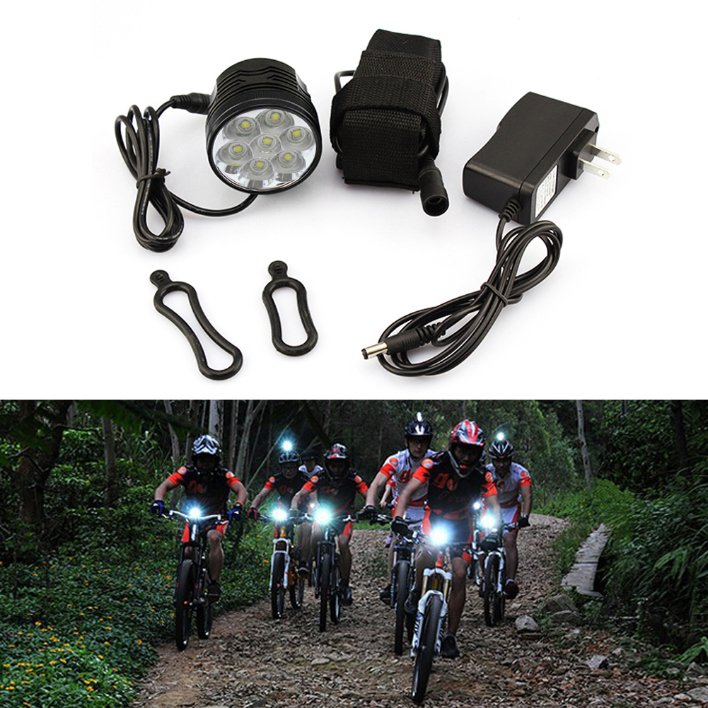 TSLEEN New 8400 Lumen Super Light Rechargeable T6 LED Bicycle Light Waterproof Built-in Battery Front Bike Night Torch Heaplamp