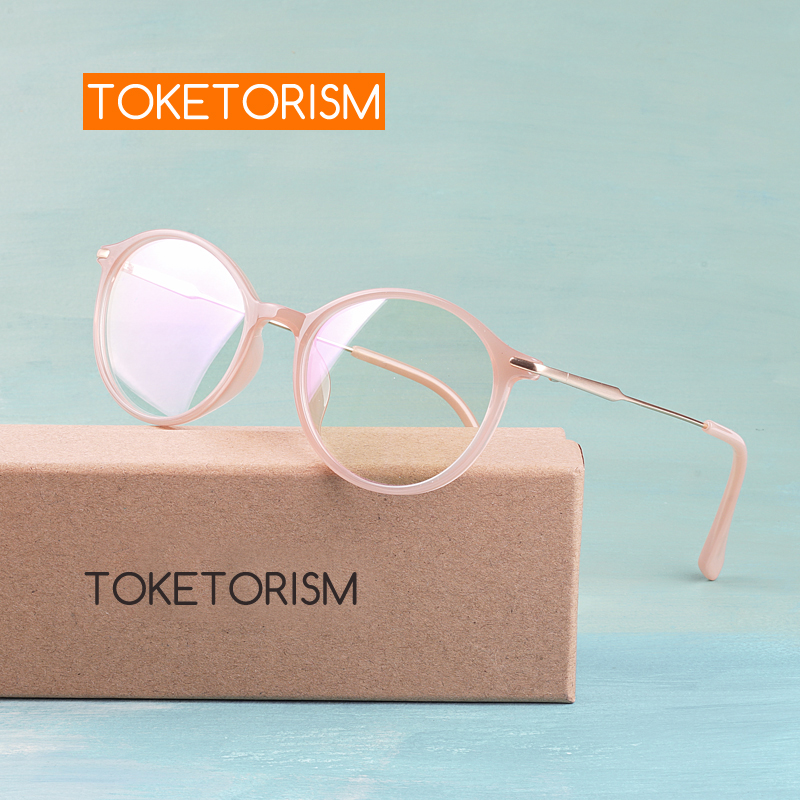 Toketorism TR90 Ultralight Optical Glasses Frames For Women Retro Prescription Men Eyeglasses 6161