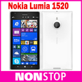 Original Unlocked Nokia Lumia 1520 cell phones Quad Core 6.0 inch touch screen 3400mAh 32GB storage 20MP camera