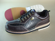 new design genuine leather adult professional bowling shoes
