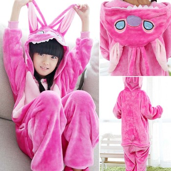 Onesie Kinderen Stitch Overalls Jumpsuit Kids Pijama Children Animal  Cosplay Costume Kigurumi Onesie Blanket Sleepers Pajamas b54a6acd3