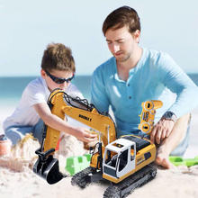 10Channel Simulation RC Excavator Toys For Children's Boys RC Truck Toys RC Engineering Car Tractor Brinquedos цена