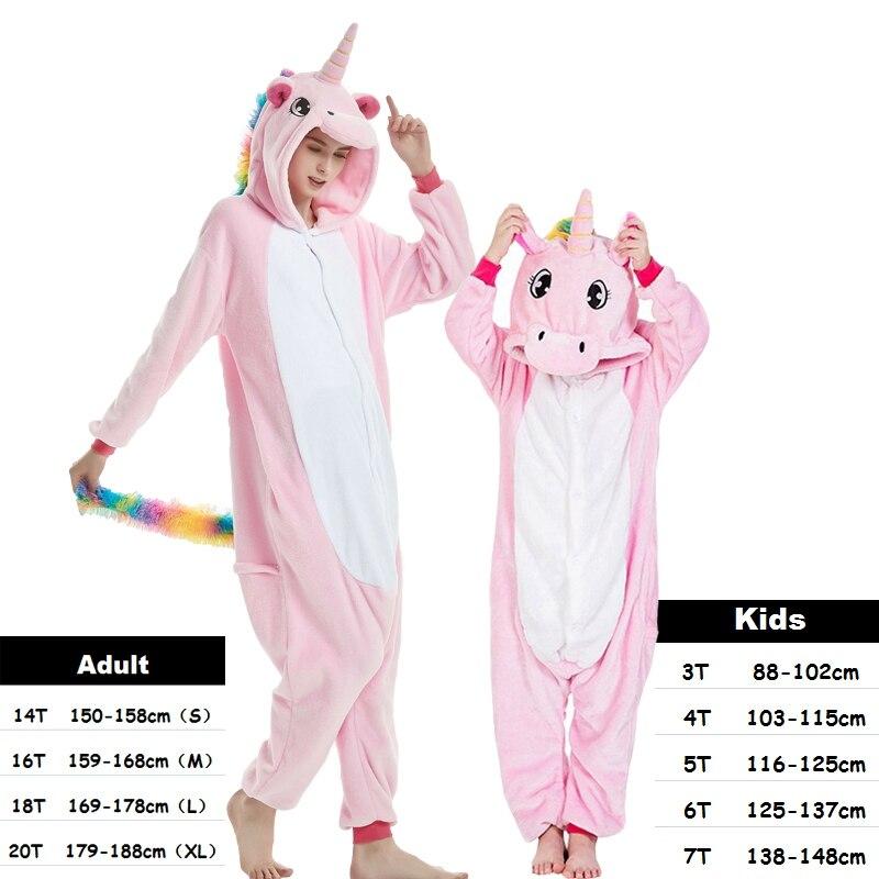 Kigurumi Onesie Panda de los niños franela pijamas Set stitch dibujos  animados niñas Halloween Cosplay pijamas unicornio pijamas mujeres d1a842980a5f
