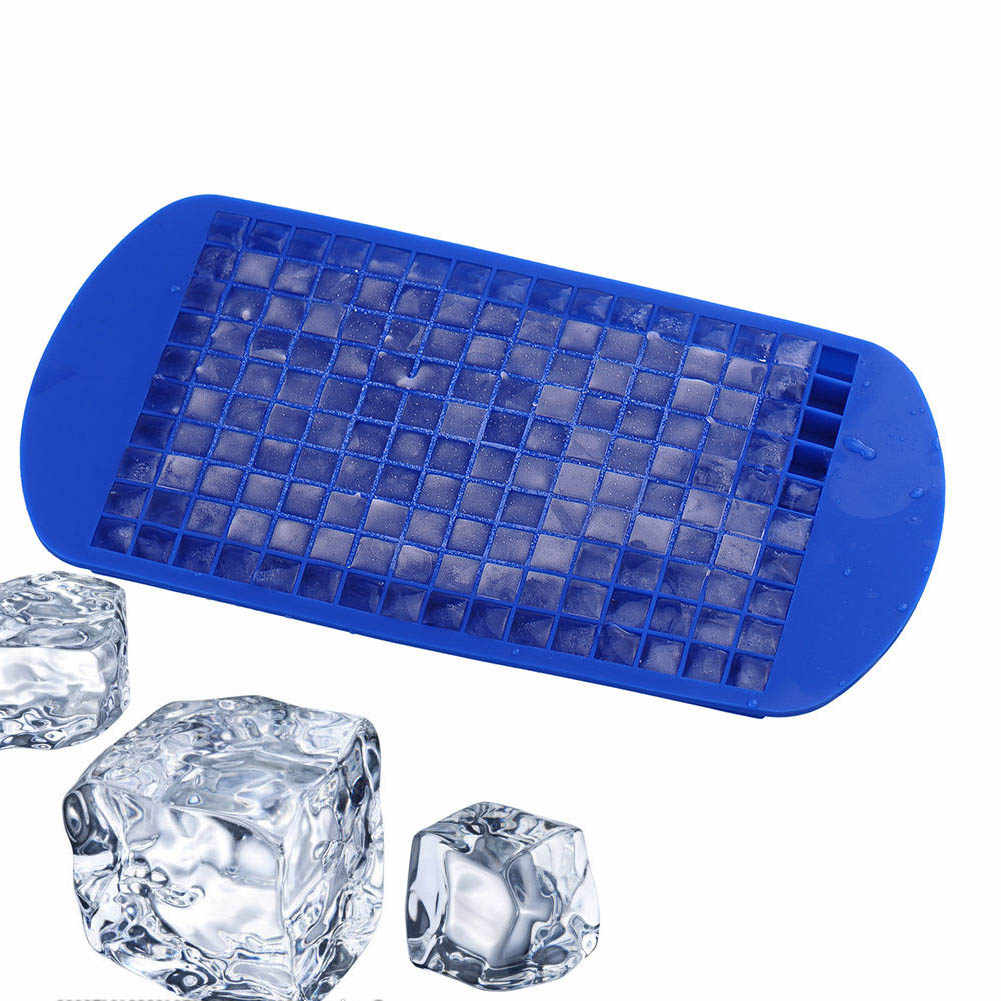 160 Practical Ice Mold Mini Small Ice Cube Tray Frozen Cubes Trays Silicone Ice Mold Kitchen Tool SKD88