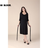 HI BLOOM Nursing Maternity Clothes Maternity Dress Elegant Easter Evening Party Dresses For Pregnancy Black Skirt