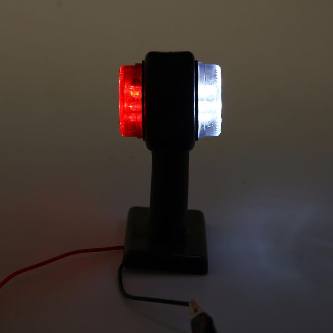 2Pcs 12V-36V Truck Double Side Marker Light Car Auto Trailer Caravan LED Clearance Lamp Red & White Light High Quality