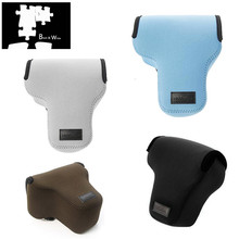 Taşınabilir neopren kamera çantası kılıf kapak için Fujifilm X T3 X T2 XT3 XT2 18 55mm Lens ile dijital kamera sadece