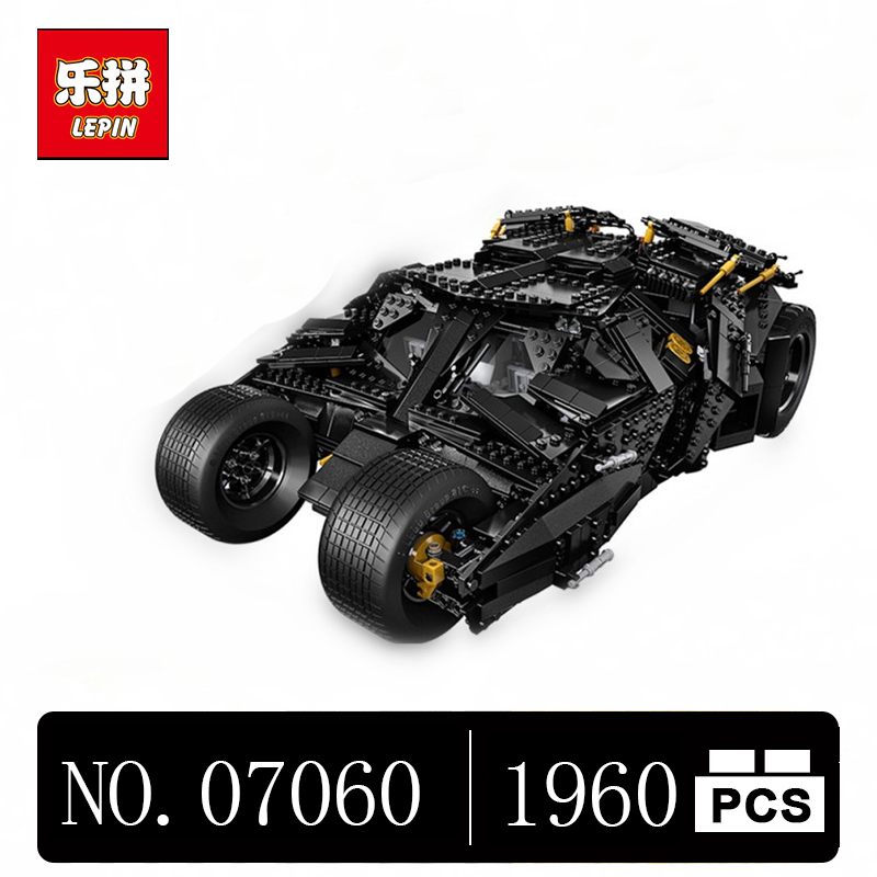 DHL LEPIN 07060 1960Pcs Super Hero Movie Series The Tumbler Batman Armored Chariot Set 76023 Building Block Bricks Toys lepin 07060 super series heroes movie the batman armored chariot set diy model batmobile building blocks bricks children toys