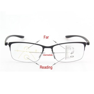 Image 5 - 안티 블루 레이 프로 그레시브 안경 독서 노안 안경 패션 프레임 클리어 렌즈 추가 + 1.00 ~ + 3.50 다 초점 안경