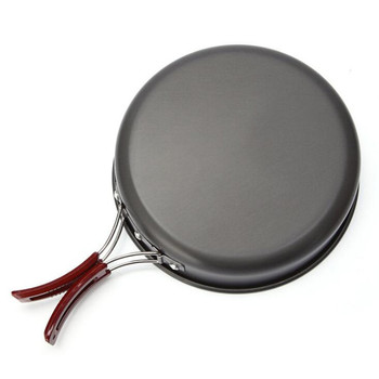 High quality Ultralight Camping Cookware Frying Pot outdoor tableware Picnic 2-3 Person Frying Pan Fry Pan Portable Single Pot 2