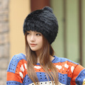 2016 new Korean fashion tide winter rabbit hair hat Baotou Hat Lady fur hat leather ear warm and lovely hats for women
