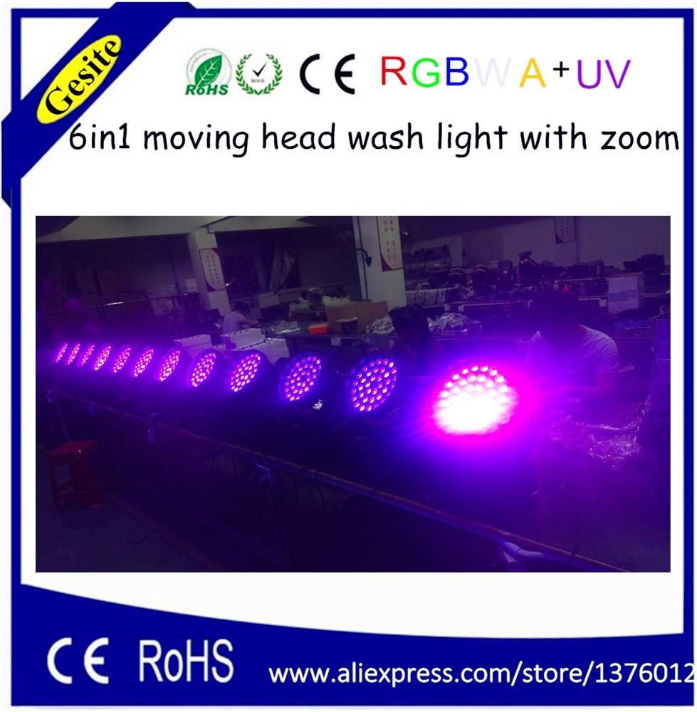 Pengilang terus bekalan membawa lampu panggung 36pcs 6 in1 zoom RGBW + penggerak UV bergerak kepala