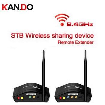 266 Smart 2.4GHz Wireless 350m AV Sender Transmitter Receiver TV Audio Video Sender Remote IR Signal Extender video adapter