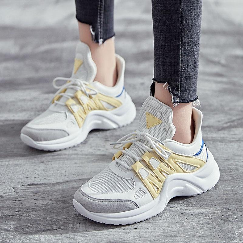 Women Shoes 2018 Fashion Vulcanize Shoes Female Breathable Women Casual Shoes Plus Size Tenis Feminino Platform Sneakers Woman