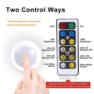 Image 2 - Xsky LED Night Light Wireless Portable Remote Controller Battery Powered Touch Sensor Under Cabinet Lights For Kitchen Wall Lamp