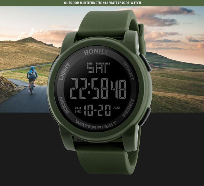 Men Digital Wristwatches LED Display Multiple Time Zone Clock Relogio Masculino Outdoor Sports Watches weide new men quartz watch multiple time zone sports watch waterproof back light men watches alarm clock relogio masculino