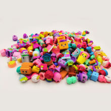 High Quality 2to5cm Famous cartoon shopkin hot gift toy size kids play soft rubber Random