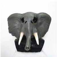 2019 Movie Fancy Party Stag Camp Realistic Safari Zoo Animal mammoth Elephant Mask