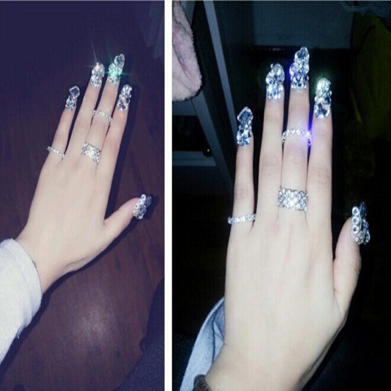 New Arrival 2400pcs Glitters Rhinestones Glue Nail Makeup for Nail ...