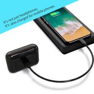 Image 5 - HBQ Bluetooth 5.0 słuchawki przenośne TWS bezprzewodowe douszne dźwięk radia 3D z mikrofonem zestaw głośnomówiący słuchawki sportowe Auto parowanie zestaw słuchawkowy