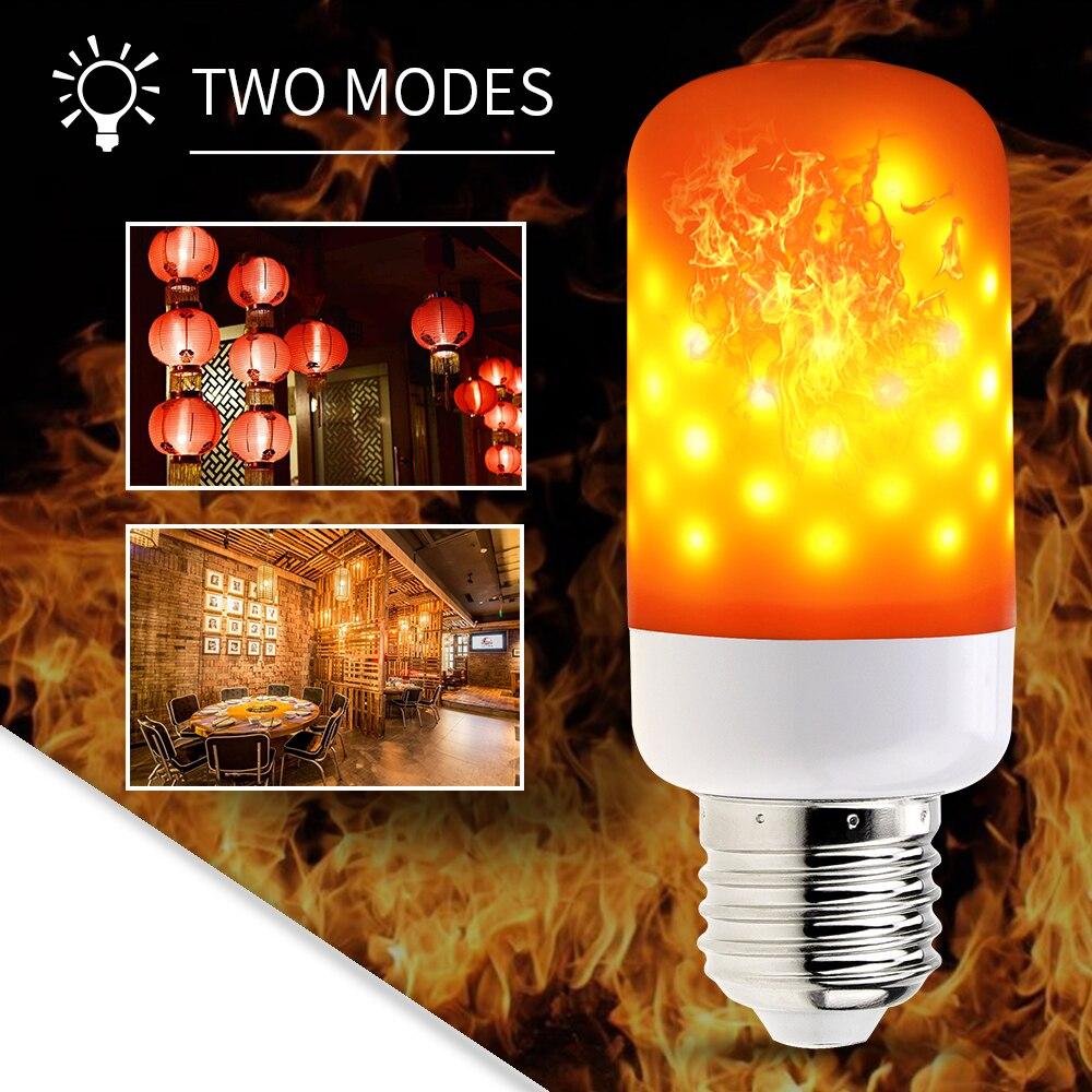 LED Flame Bulb E14 LED Flame Effect Fire Light Bulbs E26 Creative Emulation Dynamic LED Flame Lamps E27 Holiday Decorative lamp