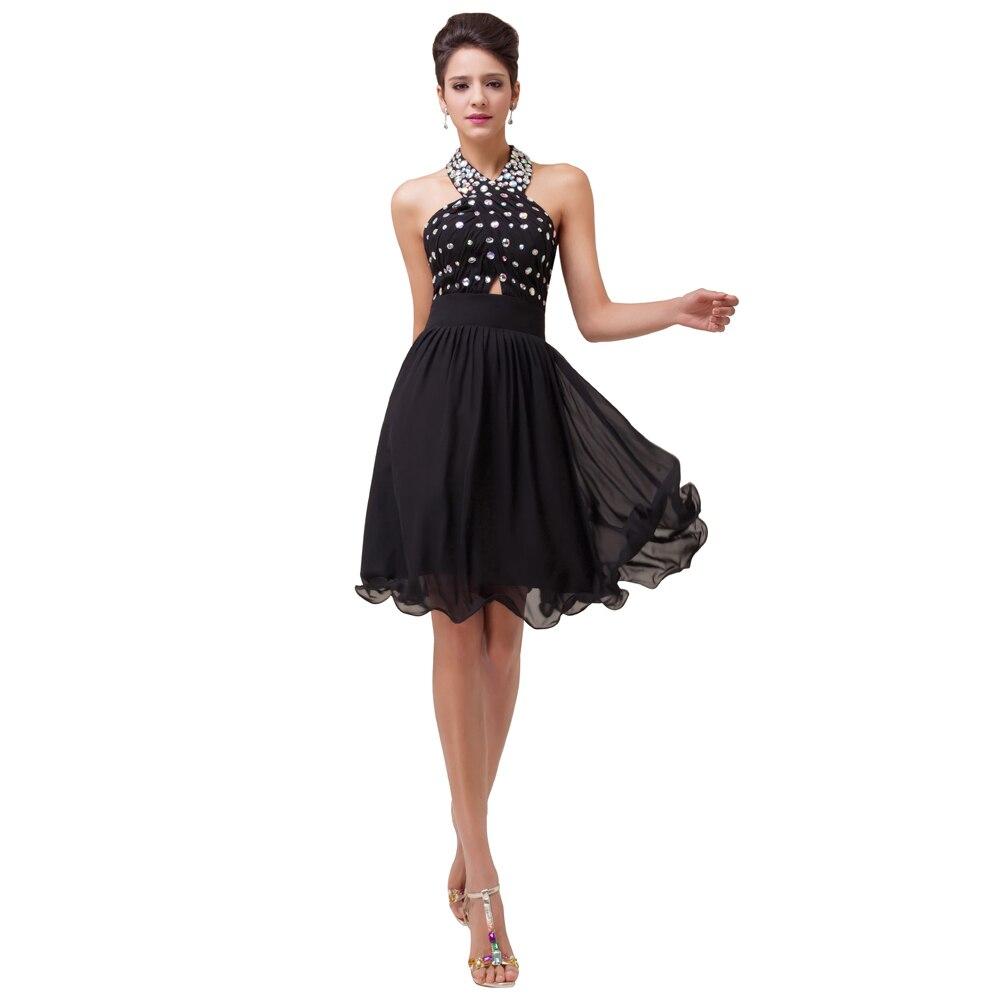 Short Chiffon Black Dress
